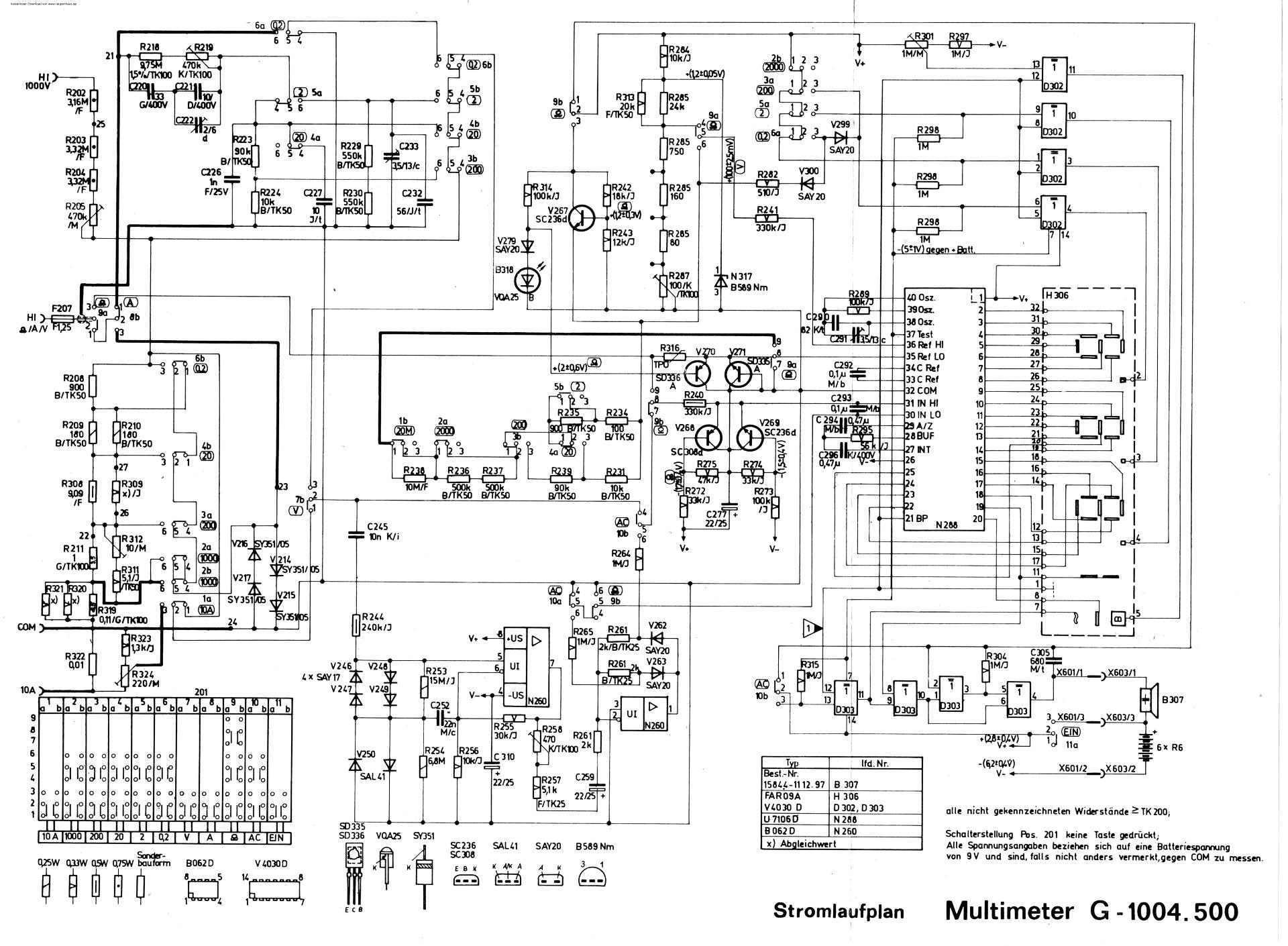 Schaltung DMM 1004.500 - ?? - Robotrontechnik-Forum