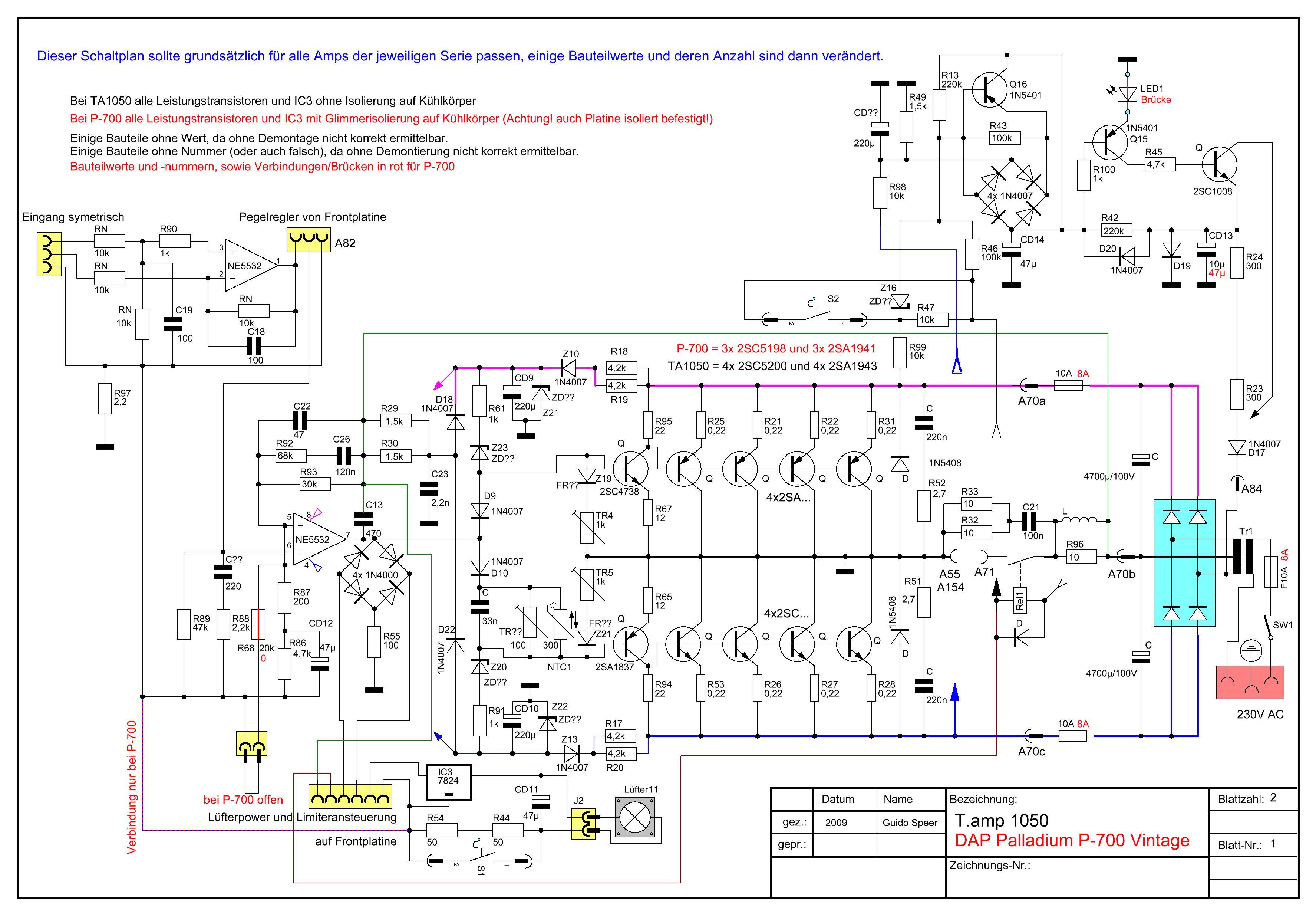 T-Amp 1050, rechter Kanal defekt, Reparatur ? - Verstärker - PA-Forum